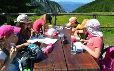 Drugi dan Doživljajsko-planinskega tabora na Zelenici