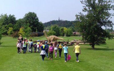 Prvošolci v arboretumu